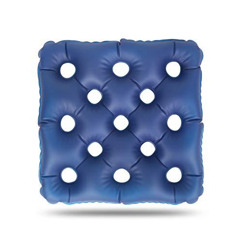 Cushion Cojín antiescaras de descompresión Transpirable Estera de Agua Pacientes de Edad Avanzada Anti-Presión Dolor en la Cadera cojín Inflable del Home Care Products,Azul