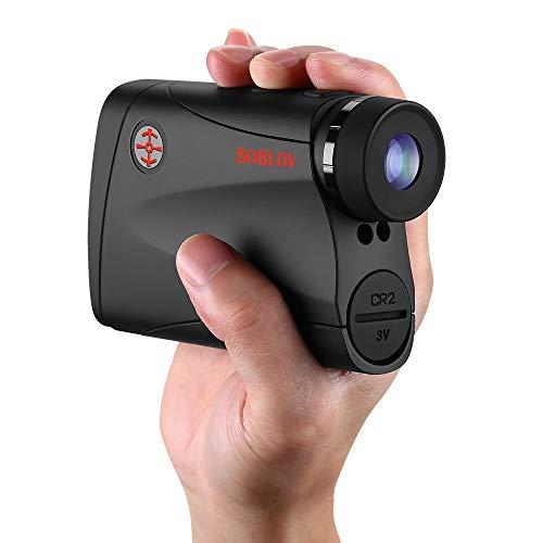 BOBLOV Telémetro de golf de 800 yardas de alta precisión con vibración y pendiente de encendido y apagado LED Flash para torneos de golf o caza (más 800)