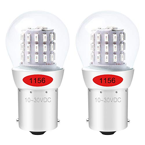 ALOPEE - 2-Stück Rot 1156 Glühbirne 1141 7506 Lichtlampe - Super Hell 10-30V DC - Für Bremslicht Rücklicht