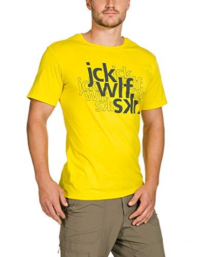 Jack Wolfskin Lawrence oC t-Shirt m M Jaune/Noir - Jaune