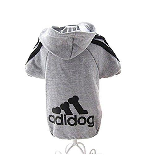 KayMayn, Adidog sport, Felpa con cappuccio per animali domestici, Per cani e gatti, Adatta anche ai cuccioli, Per cani di tutte le taglie (dalla S alla 9XL), 6 colori disponibili