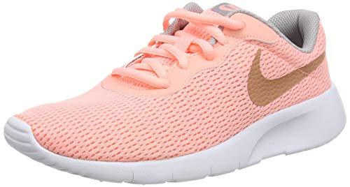 Nike Unisex Tanjun (Gs) Laufschuhe, Pink (Pink Tint/MTLC Rose Gold/Atmosphere Grey 607), 36 EU
