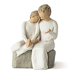 Sentiment: The best gift is time spent with you written on enclosure card 5.5 Inch hand-painted resin figure; ready to display on a shelf, table or mantel; to clean, dust with soft brush or cloth. Avoid water or cleaning solvents. A gift to celebrate...
