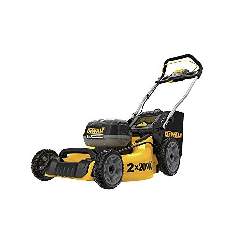 DEWALT DCMW220W2 2X20V MAX Brushless Lithium-Ion 20 in. Cordless Lawn Mower (8 Ah)