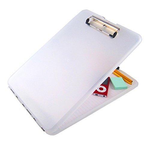 A4 Plastic Compact Clipboard Paper Storage Box File Clear