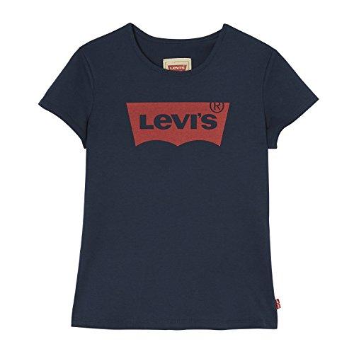 Levi's Kids Mädchen T-Shirt SS TEE NOS BAT, Blau (Marine 04), 176 (Herstellergröße: 16 ans)
