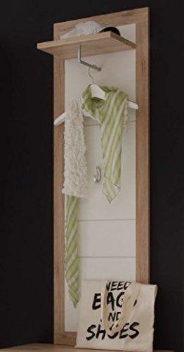 Stella Trading Can Can Paneel, Garderobenpaneel, Holzdekor, San Remo-Weiß, (B/H/T) 48 x 148 x 25 cm