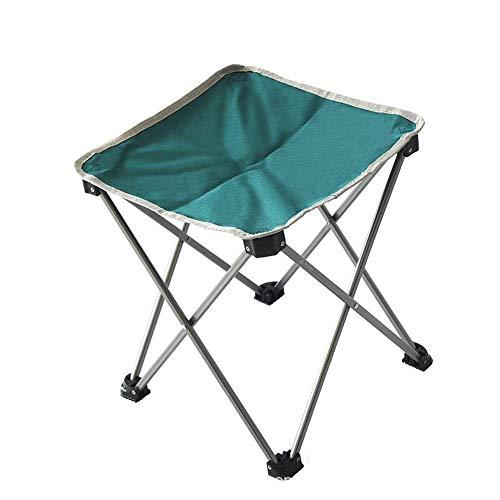 CHENDZ Tabouret pliant en plein air Portable Mini Aluminium Alliage Bench Tabouret Ultra Léger Portable Chaise portable d'extérieur (Color : Black)