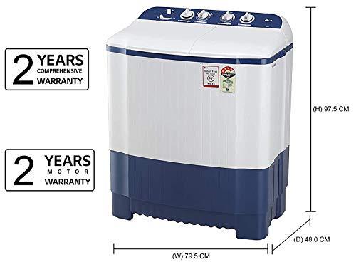 LG 6.5 Kg 4 Star Semi-Automatic Top Loading Washing Machine (P6510NBAY, Dark Blue, Rat Away Technology) 2