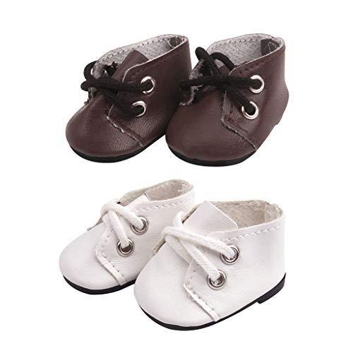 Toygogo 2 pares de zapatos cómodos Slip On vestido encaja Mellchan 14,5 pulgadas Baby Doll DIY