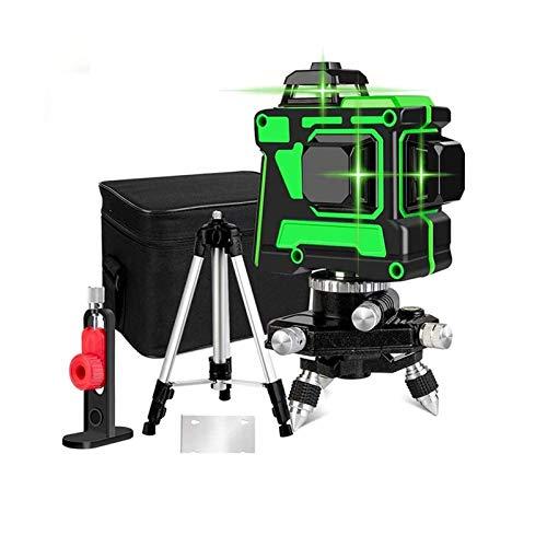 Nivel Láser 12 Líneas 360 Grados Horizontal Vertical, Nivelador Laser Autonivelante,Niveles Laser...
