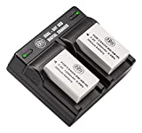 2-Pack of NB-10L Batteries and Dual Battery Charger Kit for Canon PowerShot G15, G16, G1X, G3X, SX40 HS, SX40HS, SX50 HS, SX60 HS Digital Camera
