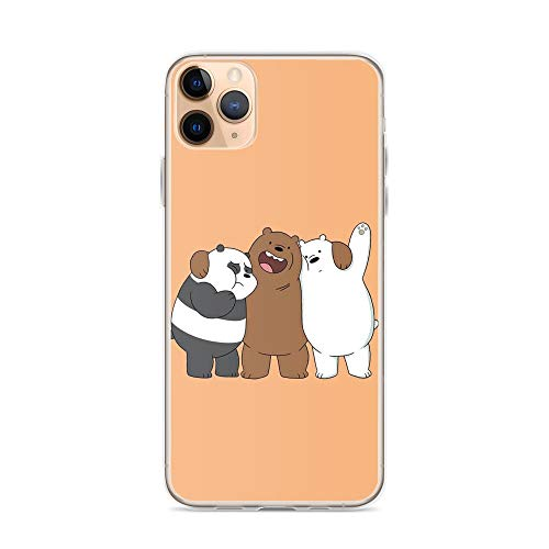 Beamm-Frost Compatible with iPhone 11 Case We Bare Bears Brothers Panda Animated Animal Cartoons Pure Clear Phone Cases Cover