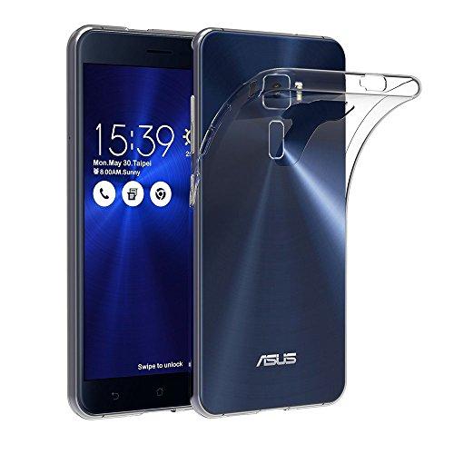 ivoler Hülle Hülle Kompatibel für Asus Zenfone 3 ZE520KL 5.2 Zoll, Premium Transparent Klare Tasche Schutzhülle Weiche TPU Silikon Gel Handyhülle Schmaler Cover