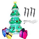Harsso Decoraciones de Árboles Inflables de Navidad Inflable Iluminar Cajas de Regalo de Árboles Inflables de Navidad Gigante Debajo del Adorno del Árbol con Ventilador Airblown Christmas