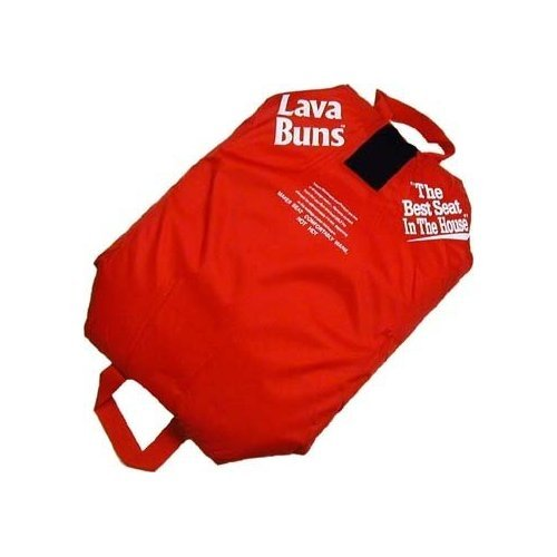 Vesture MicroCore Lava Buns Heated Seat Cushion (Red)