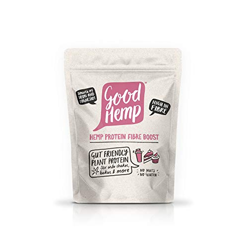Good Hemp Protein Fibre Boost Natural Gut Healthy Organic Workout Support Powder Shake Drink Nutritional Unrefined Omega 3 Omega 6 Amino Acid Growth Maintenance Muscle Building Supplements 400g