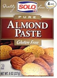 Solo Pure Almond Paste 8 oz (Pack of 3)