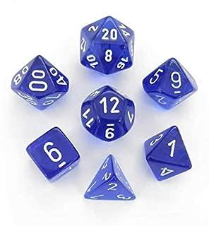 Chessex: 7-Die Set Translucent: Blue and White