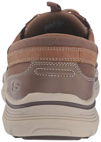 Skechers Men's Expended-menson Leather Lace Up Boat Shoe