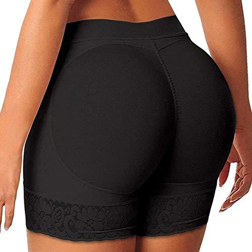 FUT Women Butt Lifter Padded Shapewear Enhancer Control Panties Body Shaper Underwear Black, XX-Large
