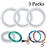 Resin Molds 3 Pack Large Bracelet 72mm Inner Diameter Silicone Mold, Round Bangle Epoxy Resin Casting Molds for Jewelry Making, DIY Craft, Key Chain