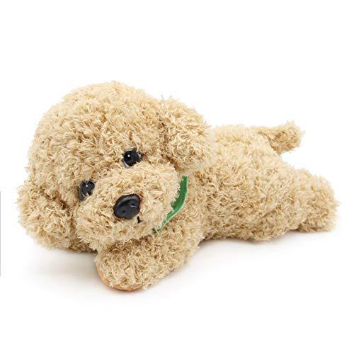 Oitscute Simulation Poodle Dog Stuffed Animal Soft Plush Puppy Toys (Yellow 11')