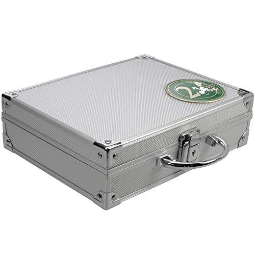SAFE 174 malette numismatique aluminium | avec 6 Tableaus 6326 pour 210 pièces de 26 mm | 21 x 7,8 x 25,6 cm