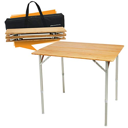 SmartFlip Bamboo Folding Table