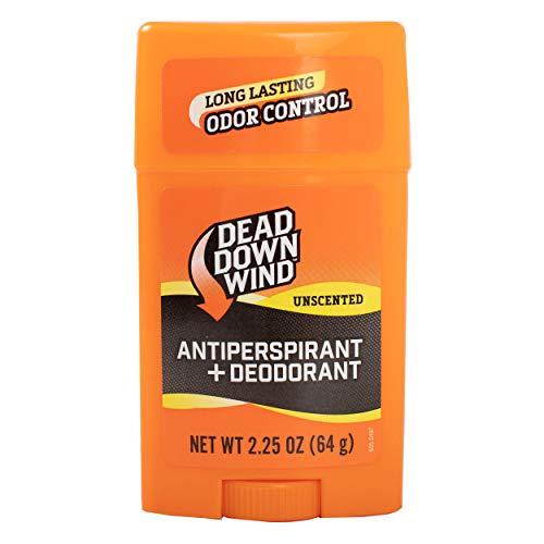 Dead Down Wind Men's Antiperspirant Deodorant Stick | 2.25 Ounce | Unscented, Long Lasting, Chemical & Organic Odor Eliminator, Safe for Sensitive Skin | Hunting Accessories