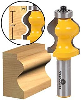 Yonico 18135 1-1/4-Inch Ogee Foot Molding Router Bit 1/2-Inch Shank