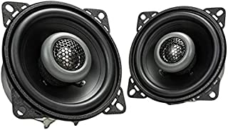 MB Quart FKB110 Formula Car Speakers (Black, Pair) – 4 Inch Coaxial Speakers, 40 Watt, 2-Way Car Audio, Internal Crossove... photo