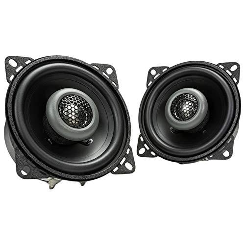 MB Quart FKB110 Formula Car Speakers (Black, Pair) – 4 Inch Coaxial Speakers, 40 Watt, 2-Way Car Audio, Internal Crossover, 1 Inch Tweeters (Grills Not Included)
