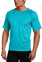 Kanu Surf Men's Short Sleeve UPF 50+ Swim Shirt (Regular & Extended Sizes), Aqua, Medium