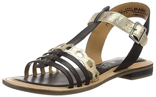 Marc Shoes Mimi, Damen T-Spangen Sandalen, Schwarz (black-combi 101), 38 EU
