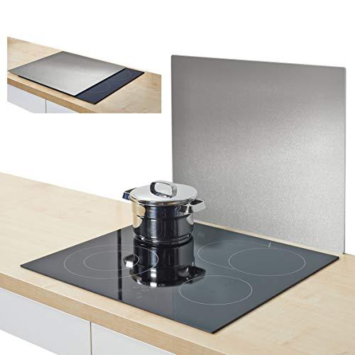 Zeller 27276 Spritzschutz/Herdblende, 56 x 49 cm, edelstahl