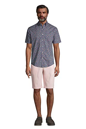 Lands' End Mens 11 Inch Traditional Fit Stretch Knockabout Chino Shorts Horizon Pink Regular 30