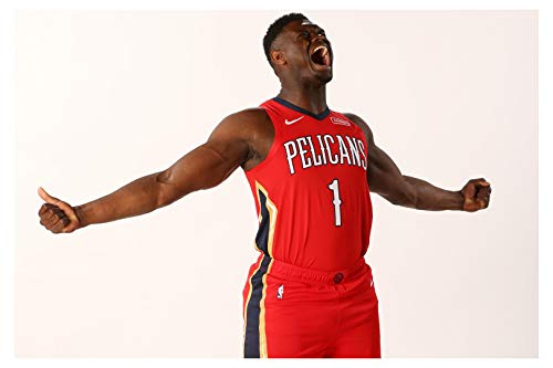 Zion Williamson Poster Glossy High Quality Print Photo Wall Art Limited Celebrity Sports Athlete NBA Basketball New Orleans Pelicans Size 16x20#2