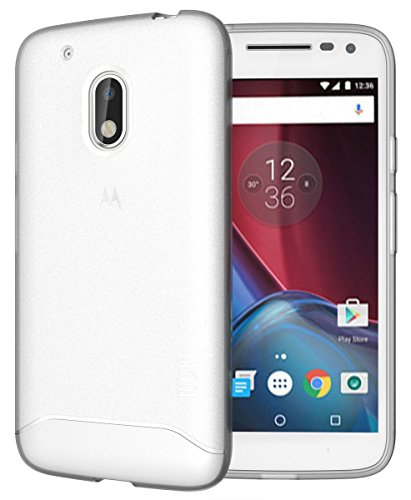 Moto G4 Play Case, TUDIA Full-Matte Lightweight [ARCH] TPU Bumper Shock Absorption Case for Motorola Moto G4 Play (Frosted Clear)