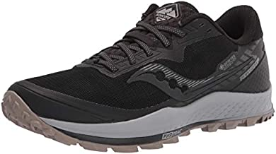Saucony Men's Peregrine 11 GTX Trail Running Shoe, Black/Gravel, 9.5