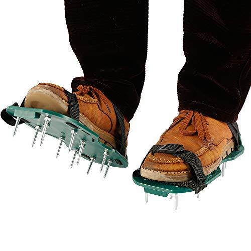 You\'s Auto Rasenbelüfter Rasenlüfter Schuhe, Rasen Nagelschuhe mit Verstellbare Gurte und Metal, Universalgröße für alle Rasen Sandalen