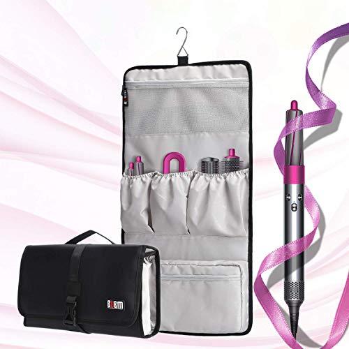 Travel Storage Roll Bag Kompatibel für Dyson Airwrap Styler, Tragbare Aufbewahrungstasche für Airwrap Styler und Zubehör, Schwarz