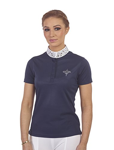 Just Togs Camiseta para Mujer Oxford Show, Mujer, 481NAVYSML, Azul Marino, S (Sports Apparel)
