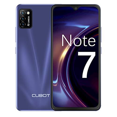 CUBOT Note 7 Teléfono móvil, smartphone sin contrato, 4G Android 10 Go, pantalla HD de 5,5 pulgadas, cámara triple de 13 MP, batería de 3100 mAh, 2 GB/16 GB, 128 GB ampliable, Dual SIM (azul)