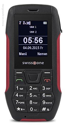 swisstone SX 567 DUAL-SIM Outdoor Mobiltelefon (nach dem IP56 Standard, Staub, Strahlwasser resistent) rot
