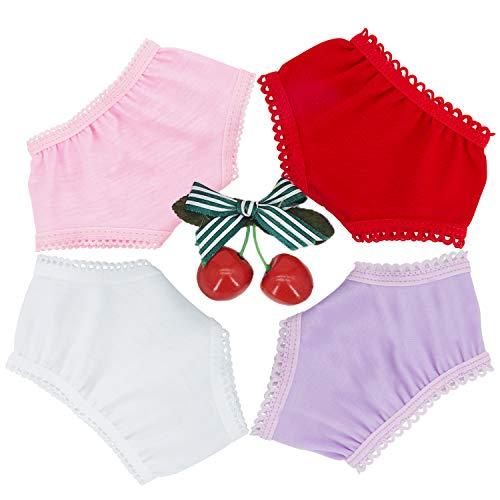 """Diealles Shine Puppenwindeln Stoff, 4 Stück Spitze Windeln für Baby Puppen 14-16 \"""" Puppen"""
