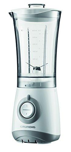 Grundig SM 3330 Kompaktmixer, Mixer, Kaffeemühle,Entsafter oder Zerkleinerer mit verschließbarem BPA-freiem Behälter 300 ml, weiß/silber