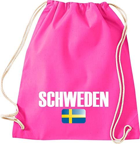 Camiseta stown Turn Bolsa Suecia País Países Fútbol, color rosa, tamaño 37 cm x 46 cm