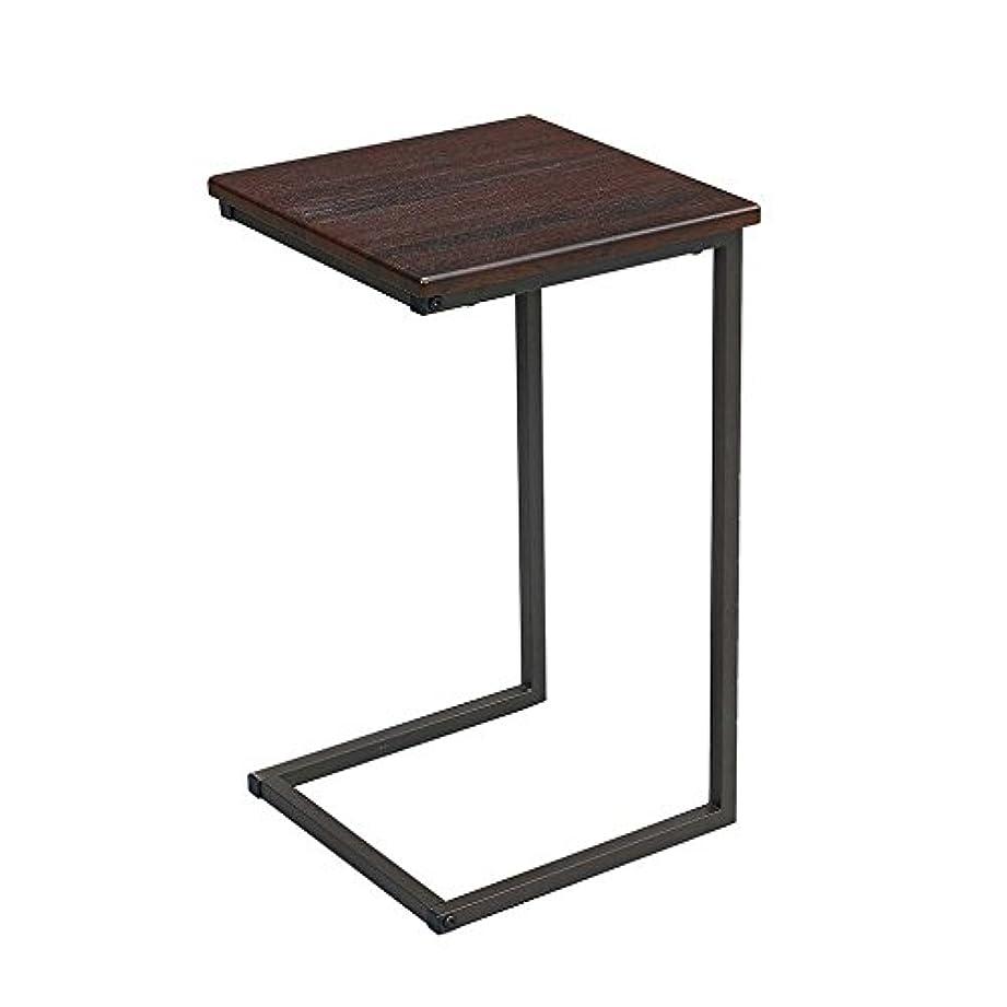 銀カナダ廃棄サイドテーブル ブラウン 幅30×奥行30×高さ52cm GST3030-BR