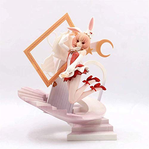 JINFENFG White Bunny Girl of Wonderland Alice Doll Modelo en Caja Decoración de Paisaje Juguete
